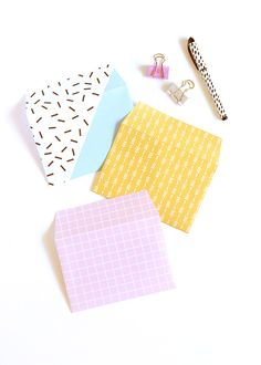 DIY printable patterned envelopes