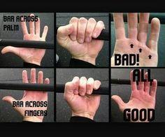 Good and bad ways to grab a bar