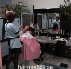 Hairdresser, Girls, Hair Cuts, Tulle, Blouses, Women, Hot, Dresses, Lowboy