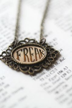 Freak - original cameo necklace by Mab Graves on Etsy, $20.00