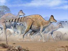 Hypacrosaurus  Illustration from paleontological magazine.  Made for De Agostini Japan. Art by Swordlord3d