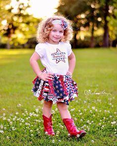 Fabric Tutu, STARS AND STRIPES, shabby Chic Tutu, july 4th, military, july fourth, red white blue, Photo Prop, Childrens Toddler Tutu via Etsy