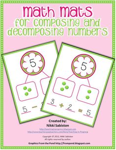 Teaching in Progress: Math Mat Freebie and Giveaway Winners Numbers Kindergarten, Preschool Math, Math Classroom, Fun Math, Teaching Math, Math Activities, Preschool Centers, Teaching Resources, Teaching Ideas