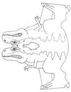 Manualidades para niños: Molde Tiranosaurio Rex (Cuerpo)