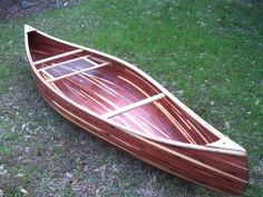 Red Cedar Strip Canoe..I'd like to make one. I have a book and everything..