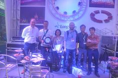 2015 Guanghzou prolight+sound exhibition Customers visit Longman exhibition booth of led stage lights