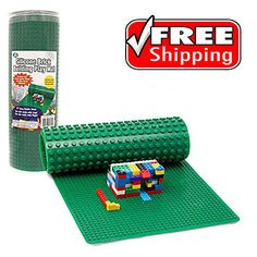 """Brick Building Play Mat Lego and Duplo 32"""" Long Activity Table Rollable Foldable #SCSDirect"""