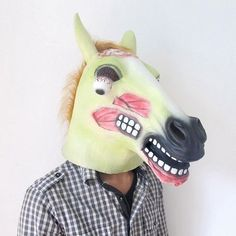 Horror Scary Zombie Horse Head Mask for Halloween Cosplay Costume Party * Click image for more details.