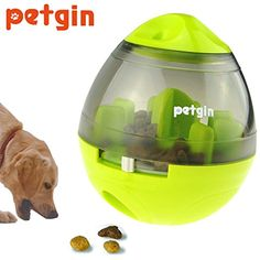 Petgin Dog Toys IQ Teat Tumbler Ball Slow Feed Dog Feeder Toy Interactive Food Dispensing Boredom for Small Medium Large Dogs >>> Click image to review more details. (This is an affiliate link) #DogToys