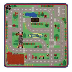 G.A. Gertmenian & Sons�Tonka Game 39.5-in x 39.5-in Square Green Sports Accent Rug