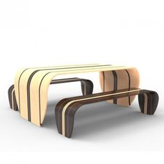 Surf-ace table and bench by Duffy London. |  Surfplank tafel en bank door Duffy London.