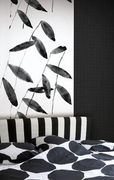 Salava Wall Mural Black/White, Fujiwo Ishimoto