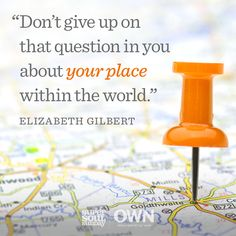 Elizabeth Gilbert show us how to start our own quests to self discovery. Watch Part 1 of Oprah's chat with the Eat, Pray, Love author right now. Double click to find out what it means to find your calling.
