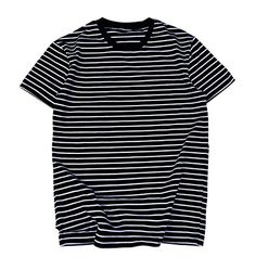 ee08df6e8fdc Zengjo Essential Stripes T-Shirts Comfort Short-Sleeve Crew-Neck Striped Tee  Top