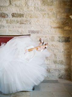 #badgley-mischka  Photography: Patrick Moyer Photography - patmoyerweddings.com  Read More: http://www.stylemepretty.com/2013/10/10/elegant-sunstone-villa-wedding-from-patrick-moyer-photography/