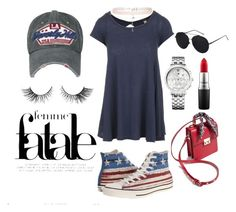 """""""Games and barbecue"""" by nimotalai on Polyvore featuring Free People, New Look, Tommy Hilfiger, MAC Cosmetics and Converse"""