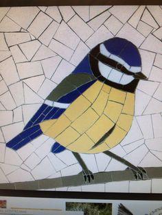 Blue tit - plain tile tesserae