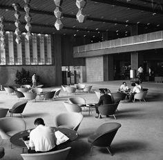 The Hotel Okura lobby in its modern glory two years after the hotel was built in 1962.