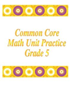 This is a unit of homework/activities that deal with the common core standards on division for Grade 5.  Each worksheet has the I can statements at the top (standards).  There is an activity using the book Esio Trot as well as story problems for the division strands.