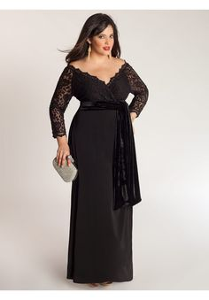 Anastasia Gown in Onyx | Plus Size IGIGI by Yuliya Raquel | OneStopPlus  I think I totally want a black and white wedding (If I am going to go decked out)....there just something so elegant and timeless about the combo!!!