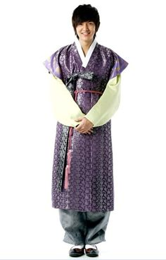 In Korean traditional clothes
