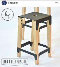 Dutchy stool via @showpdx...a jury pick award at ShowPDX 2016.   #stool #furniture #design #moderndesign