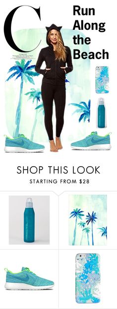 """""""Run along the beach"""" by sweatinstyle on Polyvore featuring NIKE, Vera Bradley, fitness, athletic and activewaer"""