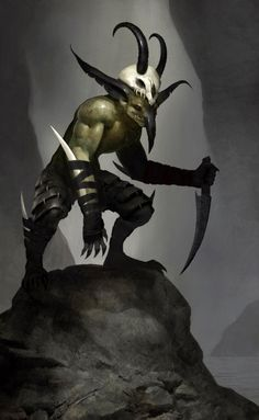 Goblin Assassins stalk their prey and are fueled caution rather than reckless abandon like many of their ilk. It is best advised to seek healing if cut by an Assassin's dagger as they tend to coat them in all manner of poisons and harmful fungus. Fantasy Races, Fantasy Warrior, Fantasy Rpg, Dark Fantasy Art, Fantasy Artwork, Fantasy Monster, Monster Art, Dnd Characters, Fantasy Characters