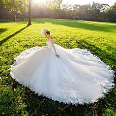 Ball Gown Wedding Dress Court Train Off-the-shoulder Lace with 2016 - £160.99