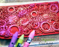 k.lynne art: unity and crayons... #tutorial Watercoloring ON stamps... using water soluble crayons or water based markers like Distress Markers