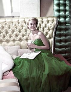 Grace Kelly wearing a green dress for St Patrick's Day, 19… | Flickr