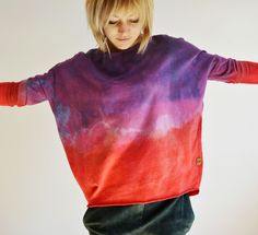 hand dyed ombre goshko Tie Dye, Turtle Neck, Sweaters, Clothes, Tops, Women, Fashion, Outfits, Moda