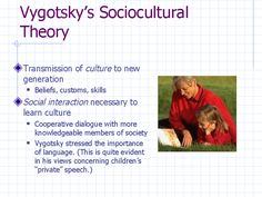The main ideas of Vygotsky's Sociocultural Theory are presented.
