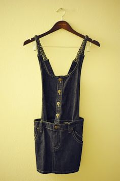 F21 Denim Overall Dress | Shop Neon Blush