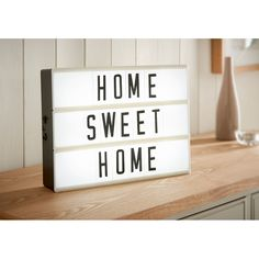 Cinema Light Box. This brilliant light box is a perfect accessory to add your own touch of style to your home. Display a message of your choice! - B&M.