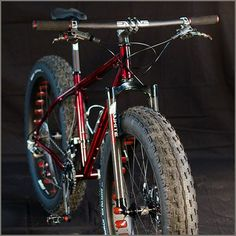 Capitol Bicycle Company | Squatch Fat Bike | That red is amazing! #fatbike #bicycle