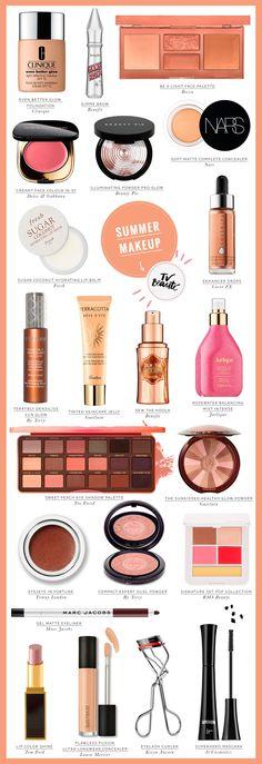 TV Beauté: my favorite summer makeup. Vic Ceridono | Dia de Beauté Bronze Makeup, Glam Makeup, Skin Makeup, Makeup Tips, Beauty Makeup, Makeup Tutorials, Sommer Make-up Looks, Sommer Make Up, Natural Glowy Makeup