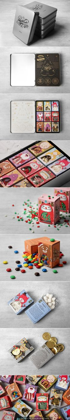 Paradoxical Types. Christmas teeth-ruining collection. #packaging #design (View more at www.aldenchong.com)