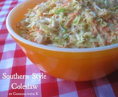 Cooking with K   Southern Kitchen Happenings: Southern Style Coleslaw + How to make the dressing to go on it! {Granny's Recipe}