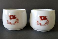 Titanic 3rd Class Coffee Mugs White Star Line Reproduction Artifact Cups RMS #RMSTitanicInc