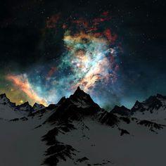 Alaska at night.