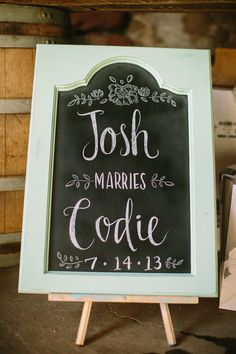 Letters/style of the sign - Santa Margarita Ranch Wedding from Danielle Capito Photography  Read more - http://www.stylemepretty.com/2013/08/06/santa-margarita-ranch-wedding-from-danielle-capito-photography/