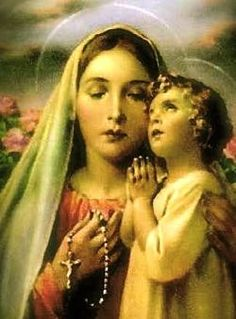 .all-about-the-virgin-mary.com  -  Our beautiful Blessed Virgin and little Jesus. Pray the Rosary.