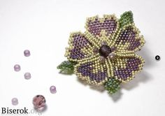 A Curved Beaded Flower Brooch Tutorial ~ The Beading Gem's Journal ~ Seed Bead Tutorials