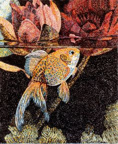 Pointillism art. i like how the colours are blended so well together.