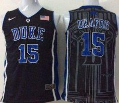 3729149cb521 Blue Devils  15 Jahlil Okafor Black Basketball Stitched NCAA Jersey