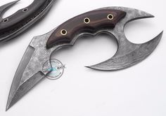 Custom Made Beautiful Damascus steel Kivi Full Tang Karambit Knife (AA-0312-20) #UltimateWarrior