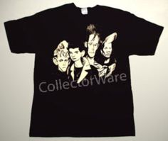 DEPECHE MODE cartoon 3 CUSTOM ART UNIQUE T-SHIRT   Each T-shirt is individually hand-painted, a true and unique work of art indeed!  To order this, or design your own custom T-shirt, please contact us at info@collectorware.com, or visit  http://www.collectorware.com/tees-depeche_mode.htm