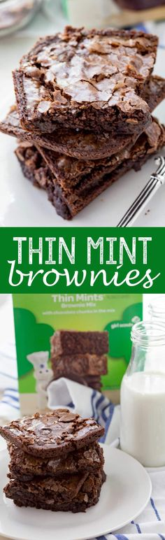 Thin Mints® Brownies