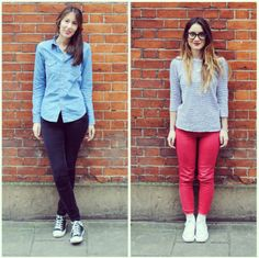 #PushWears with Tanya and Brittany; Casual converse styling.